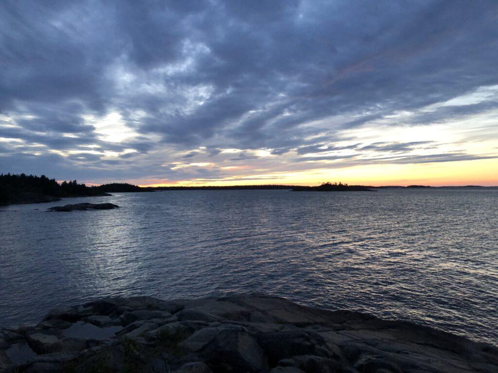 Blick auf die Ostsee am Abend