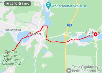 Paddeltour zum Gosener Graben (ca. 22km)